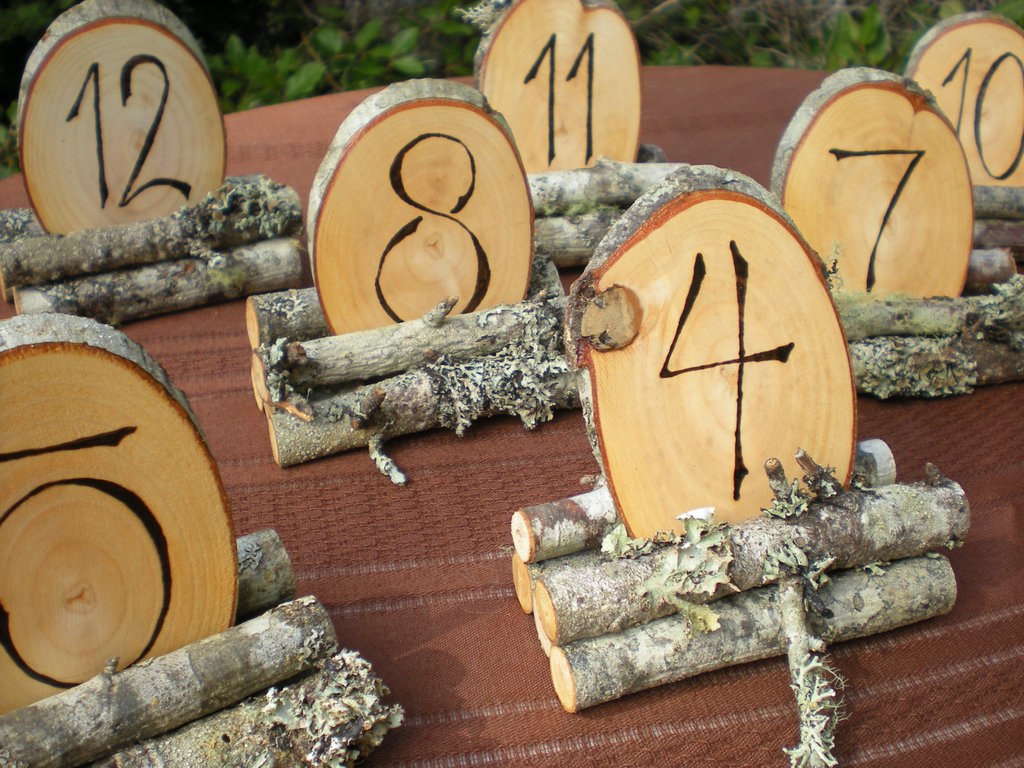 Rustic Wooden Wedding Reception Table